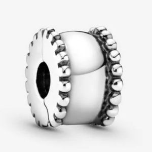 Pandora beaded round clip charm